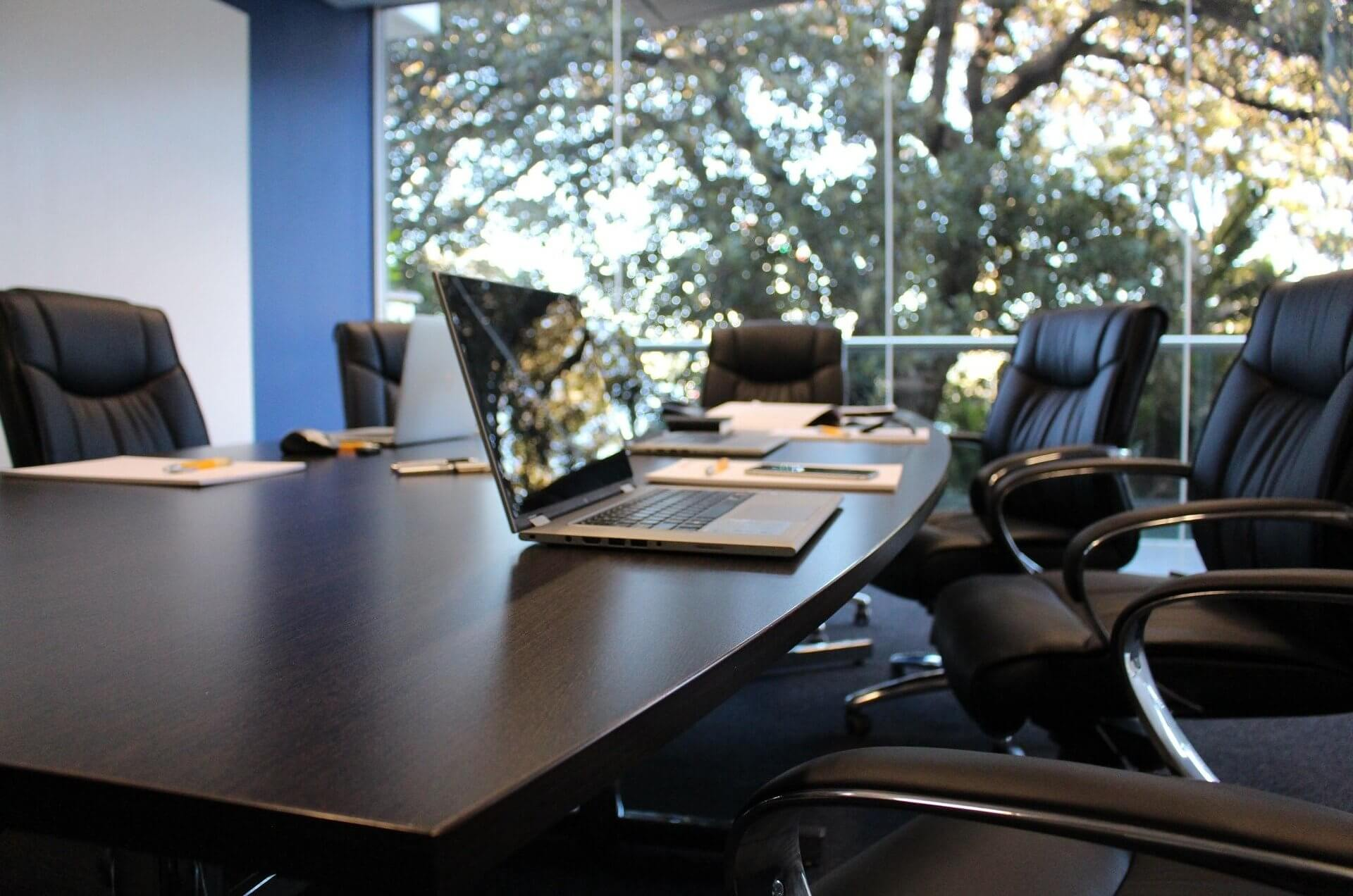 Jeff Jinks Law - Indianapolis Estate Planning Attorney - Boardroom in Office Building